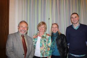 Neuer Vostand (v.l.) Hans Günter Eilenberger, Sonja Kummrow, Angelika Falk-Stiller und Kevin Oberlack